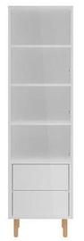 Шкаф-витрина Black Red White Moko REG1W2S/18/5, серый, 50x42x177 см
