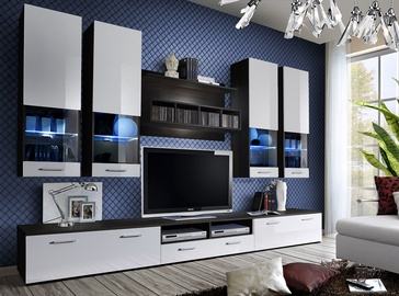 Dzīvojamās istabas mēbeļu komplekts ASM Dorade White/Wenge