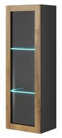 Halmar Livo W120 Hanging Cabinet Antracite/Votan Oak