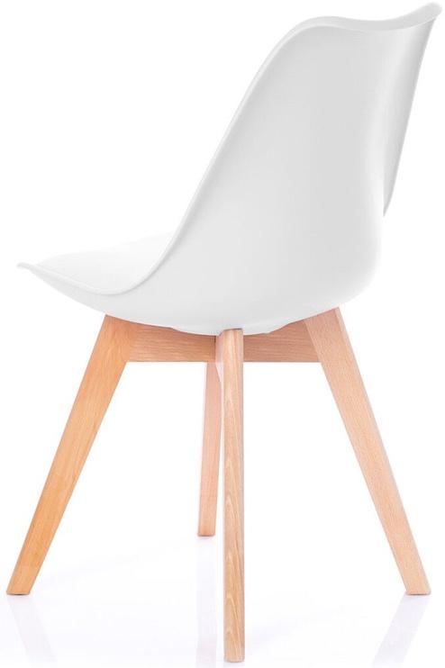 Ēdamistabas krēsls Homede Tempa, balta, 4 gab.