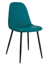 Ēdamistabas krēsls Signal Meble Teo Black Stela/Marine Ecoso