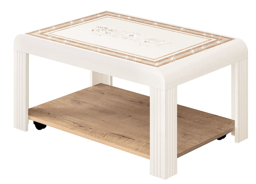 Kafijas galdiņš DaVita Agat 31.10 Bunratti-Vanilla, 900x600x450 mm