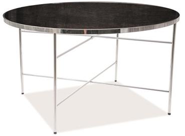 Kafijas galdiņš Signal Meble Ibiza B Marble/Chrome, 800x800x450 mm