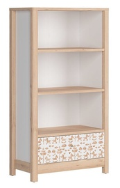 Black Red White Timon Bookshelf 80x146cm Beech/White
