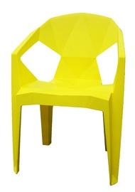 Dārza krēsls Besk Plastic Yellow, 54x40x80 cm