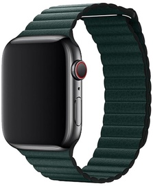 Devia Elegant Leather Loop For Apple Watch 40mm Green