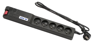 HSK Data Power Strip 5 Outlet Black 1.5m