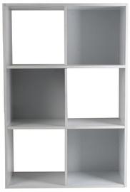 Plaukts 4Living White 60x30x90cm