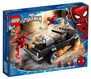 Constructor LEGO Marvel Spider Man And Ghost Rider VS Carnage 76173