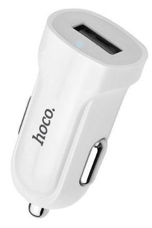 Hoco Premium Z2 Fast USB Car Charger + Micro USB Cable White