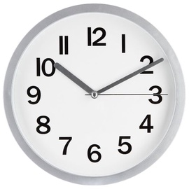 SN Quartz Wall Clock D22cm Grey