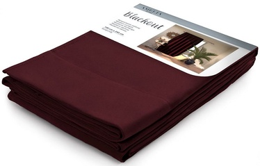 AmeliaHome Pleat Blackout Curtains Burgundy 140x245cm