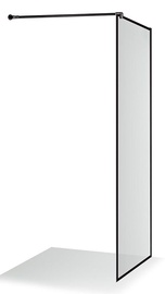 Стенка для душа Brasta Glass Dija Nero Frame, 900 мм x 2000 мм
