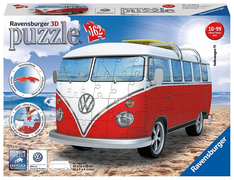 3D пазл Ravensburger Volkswagen Bus T1, 162 шт.