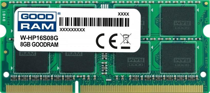Operatīvā atmiņa (RAM) Goodram W-HP16S08G DDR3 (SO-DIMM) 8 GB CL11 1600 MHz