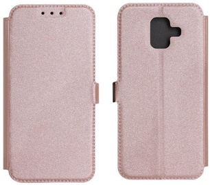 TakeMe Super Slim Shine Book Case For Samsung Galaxy J6 J600 Rose Gold