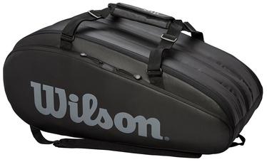 Рюкзак Wilson Tour 3 Compartment Bag Black, черный