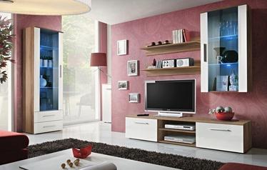 Dzīvojamās istabas mēbeļu komplekts ASM Galino F Plum/White Gloss
