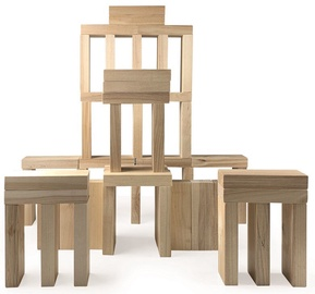 Koka klucīši Amo Toys Spring Summer XL Wooden Blocks