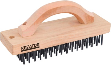 Kreator KRT561001 Wooden Wire Brush 6R - Steel