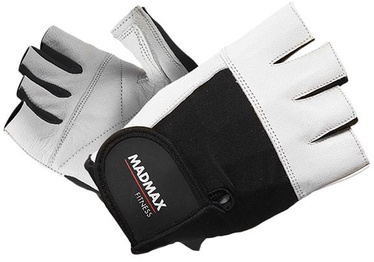 Mad Max Fitness Gloves White Black XL