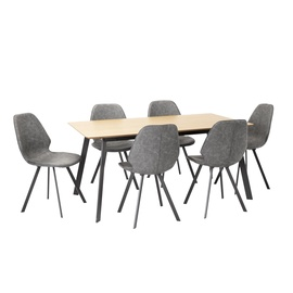Home4you Helena 1 Dining Set Grey/Oak