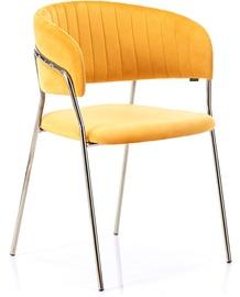 Ēdamistabas krēsls Homede Laredo Mustard, 2 gab.
