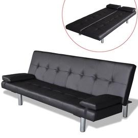Dīvāngulta VLX Artificial Leather 241722, melna, 168 x 77 x 66 cm