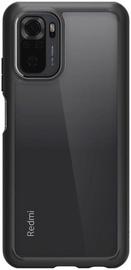 Futrālis Spigen Ultra Hybrid for Redmi Note 10, caurspīdīga/melna