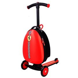 Bērnu skūteris Ferrari, melna/sarkana