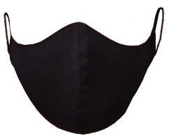 TakeMe Profiled 1-Layer Reusable Face Mask Black