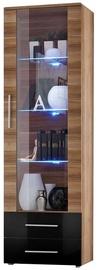 Vitrīna ASM Neo I Plum w/ Black Drawers, 60x40x190 cm