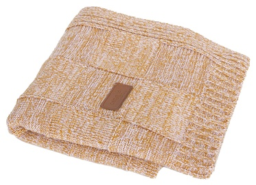 Ceba Baby Jersey Knitted Blanket 90x90cm Check Brown