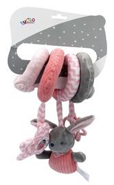 Zobu riņķis Tulilo Rabbit, rozā/pelēka