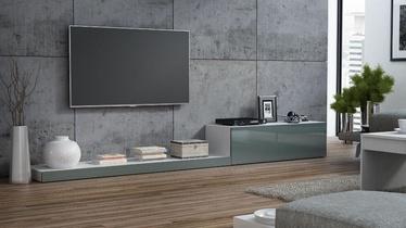 ТВ стол Cama Meble Life 300, белый/серый, 3000x420x350 мм