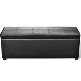 Sols VLX Long Storage Bench Wood, melna, 380 mm x 1180 mm x 450 mm