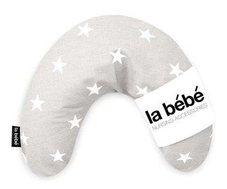 Подушка для беременных La bebe Mimi Cotton, белый/серый
