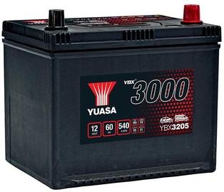 Akumulators Yuasa YBX3205, 12 V, 60 Ah, 540 A