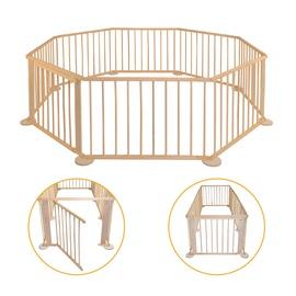 Защитный деревянный забор - манеж для собаки из 8 частей