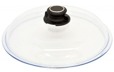 AMT Gastroguss Glass Lid With Knob Ventilation 28cm