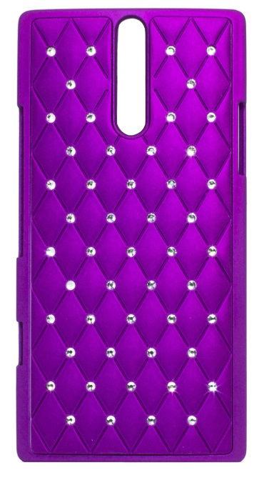 Telone Diamond Slim Hard Back Case Sony Xperia E Violet