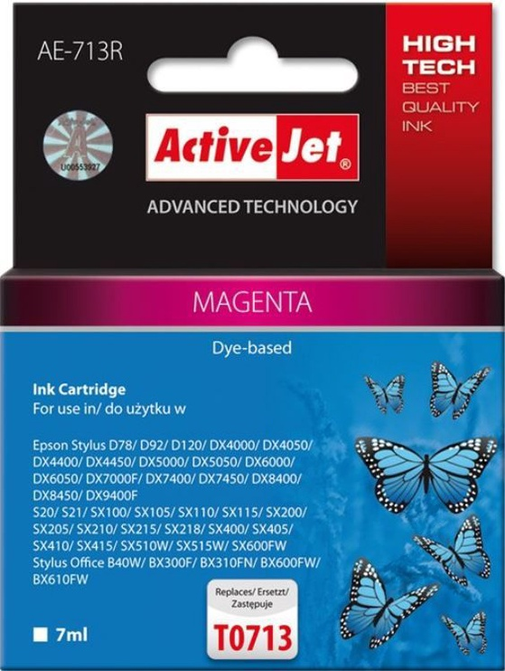ActiveJet Cartridge AE-713R For Epson 7ml Magenta