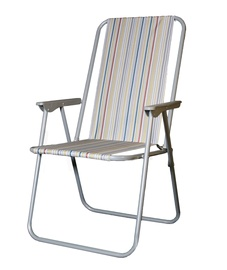 BESK Camping Chair 53x44x75cm Grey