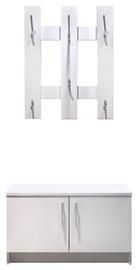 Tuckano Coat Hanger With Shoe Cabinet Snow White