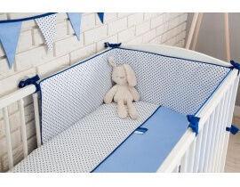 Babylove Cotton Bedding Set Blue 3pcs
