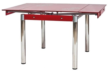 Обеденный стол Signal Meble GD-082 Red, 800 - 1310x800x750 мм