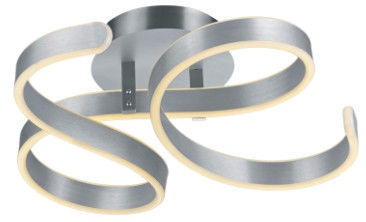 Trio Francis matēta alumīnija krāsas LED griestu gaisma 40W, 6000lm, 3000K