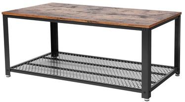 Kafijas galdiņš Songmics Antique, brūna/melna, 1062x602x450 mm