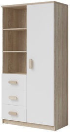 Idzczak Meble Smyk III 05 Shelf 80 3S1D White/Sonoma Oak