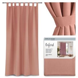 Nakts aizkari AmeliaHome Oxford Tab, rozā, 1400x2500 mm